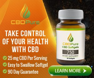 CBDPure Pure Organic CBD bottle